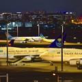 Photos: 東京の夜景とサウジアラビア王国政府専用機