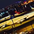 Photos: 羽田空港の夜。。サウジアラビア王国来日で羽を休む