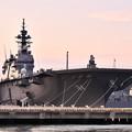 夕暮れの横須賀。。ヘリコプター搭載護衛艦かが。。20170325