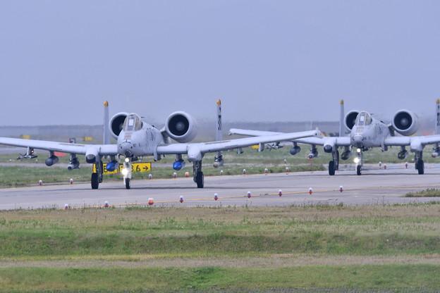 岩国基地。。韓国オーサン基地へ帰投。。A-10 20170506