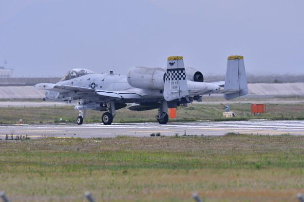 岩国基地。。あまり戦闘攻撃機らしく見えないA-10 帰投 20170506