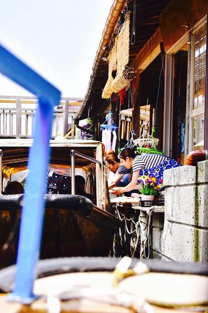 十二橋めぐりながら団子を買える渡瀬舟 20170611