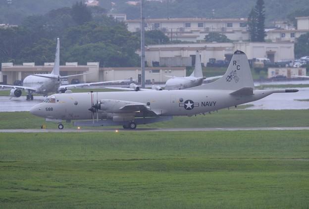 現在嘉手納基地展開中の米海軍P-3C。。(2) 20170619