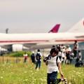 写真: 夏の航空祭。。北海道千歳基地の周りの風景 20170722