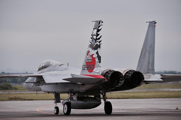 千歳基地の第201飛行隊スペマ機。。機動飛行へ