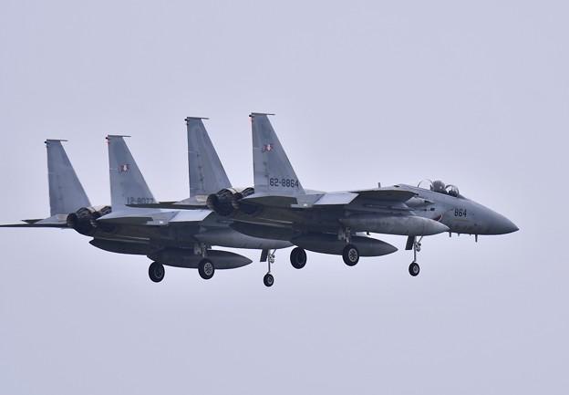 千歳基地航空祭。。編隊飛行もキャンセルで戻る第203飛行隊