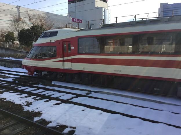 撮って出し。。長野電鉄須坂駅 旧小田急ロマンスカーHiSE 2月3日