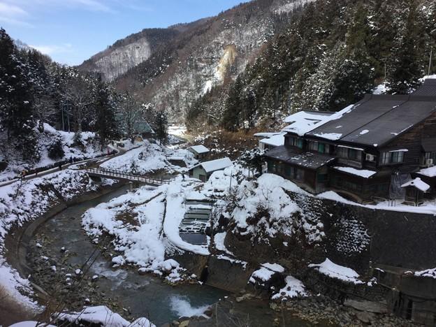 撮って出し。。地獄谷温泉郷 少なめの雪 2月3日