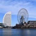 出初式会場へ向かう途中。。観覧車とパシフィコ横浜 20180107