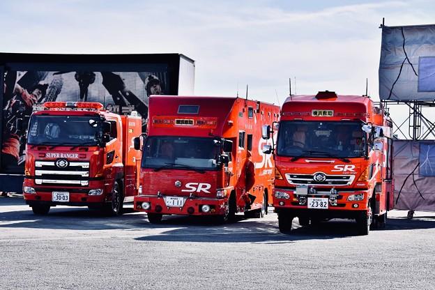 横浜消防出初式。。横浜消防スーパーレンジャーの車たち 20180107