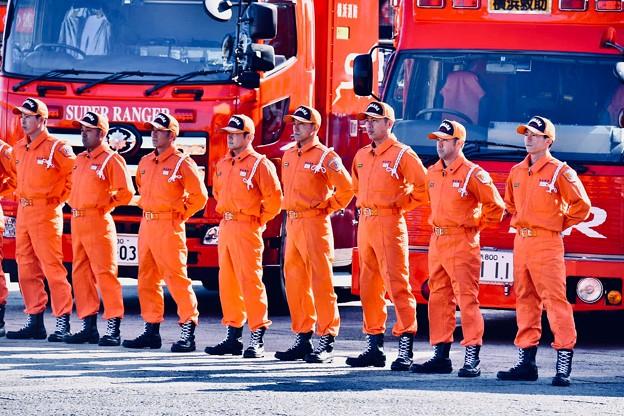横浜消防出初式。。横浜消防の精鋭部隊スーパーレンジャー 20180107