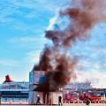 Photos: 横浜消防出初式。。地震災害総合演習 大地震後火災想定 20180107