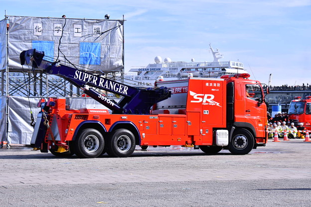 横浜消防出初式。。スーパーレンジャー専用特殊車両 20180107