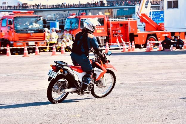 横浜消防出初式。。地震災害後偵察バイク部隊 20180107