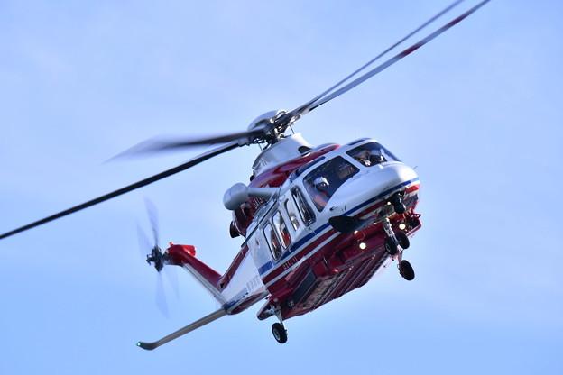 横浜消防出初式。。消防ヘリコプターは迫力の飛行 20180107