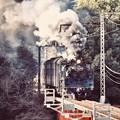 大井川鐵道 青部鉄橋を力強くC5644 (1) 20180120