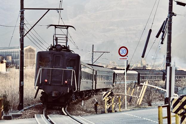 大井川鉄道。。電気機関車E10 福用付近 20180120