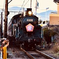 夕暮れの大井川鉄道 新金谷駅へSL C108。。20180120