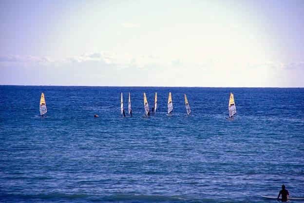 由比ヶ浜海岸で楽しむマリンスポーツ。。20180127