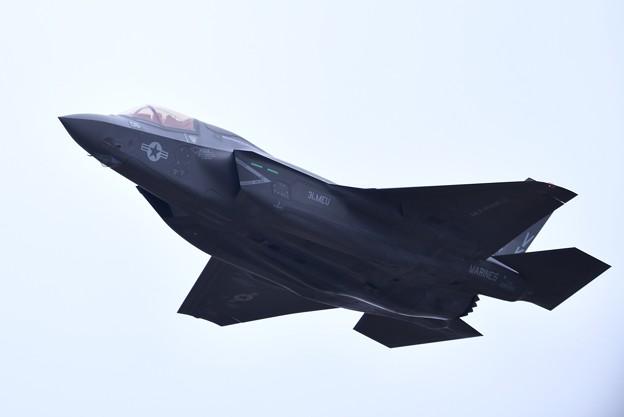 撮って出し。。岩国基地よりローカルへF-35B 上がり(2) 3月21日