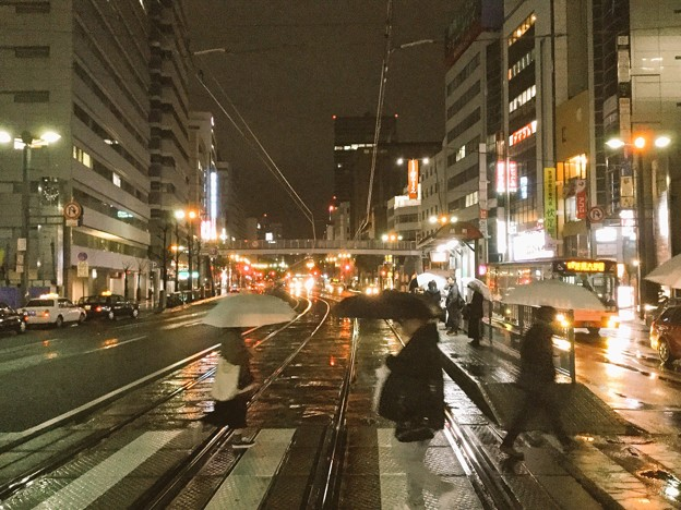 撮って出し。。せっかくだから岩国から夜の広島へ 3月21日