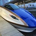 長野へ北陸新幹線E7系。。東京駅にて 20180203