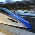 東京駅にて北陸新幹線と東海新幹線。。20180203