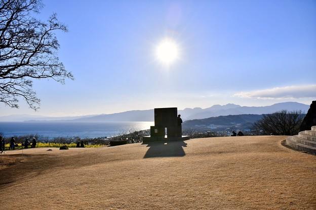 吾妻山公園から見える伊豆半島と相模湾 20180204