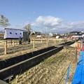写真: 小田原市曽我梅林の毎年恒例 流鏑馬 即席会場 20180211