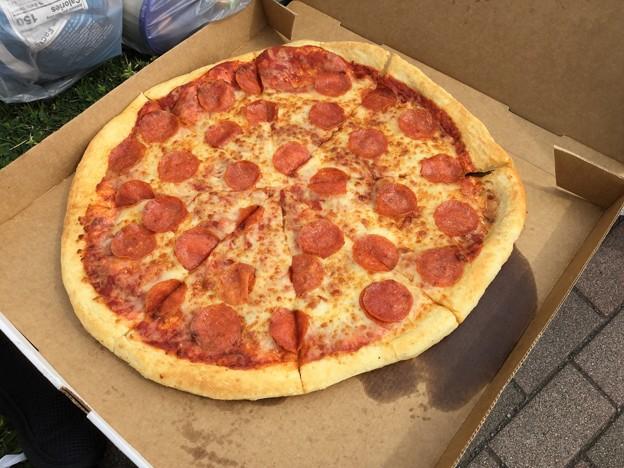 撮って出し。。アメリカンピザ ペペローニ 4月7日