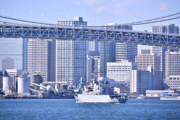 日仏共同訓練へ出航 フランス海軍ヴァンデミエール 20180212