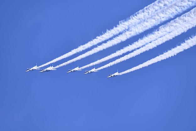 芦屋基地航空祭予行練習 ブルーインパルスフェニックスループ(4) 20180217