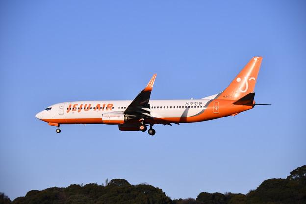 航空祭予行終えて福岡空港へ。。juju air機 アプローチ 20180217