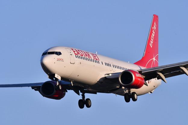 航空祭予行終えて福岡空港へ。。EASTAR JET機