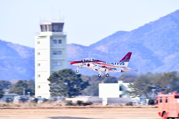 芦屋基地航空祭。。オープニングフライトへレッドドルフィン上がり(1) 20180218