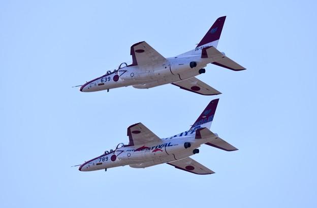 芦屋基地航空祭。。オープニングフライトへレッドドルフィンローパス 20180218