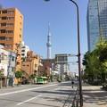 写真: 撮って出し。。錦糸町から見える東京スカイツリー 4月22日