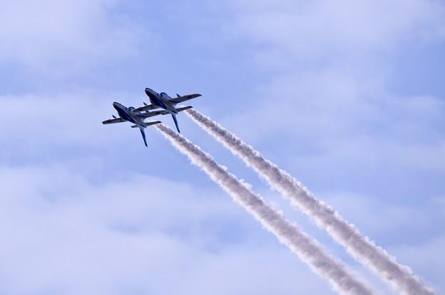 ブルーインパルス。。ツイン背面飛行 20180218