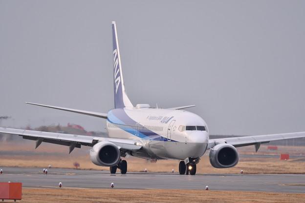 岩国錦帯橋空港へ東京からの到着便ANA(2) 20190219