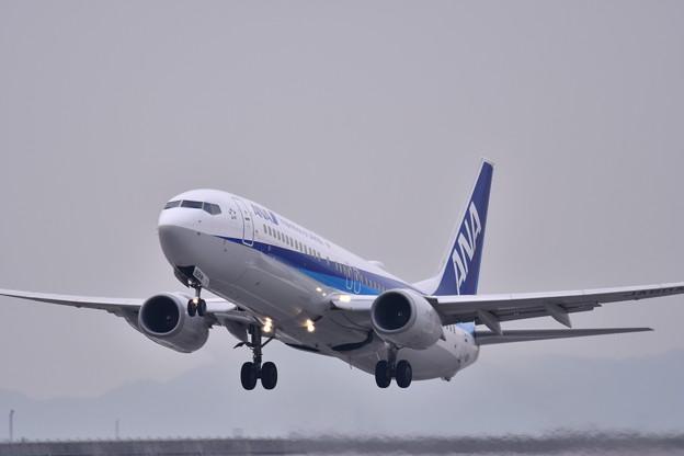 岩国錦帯橋空港から東京へテイクオフ ANA 20180219
