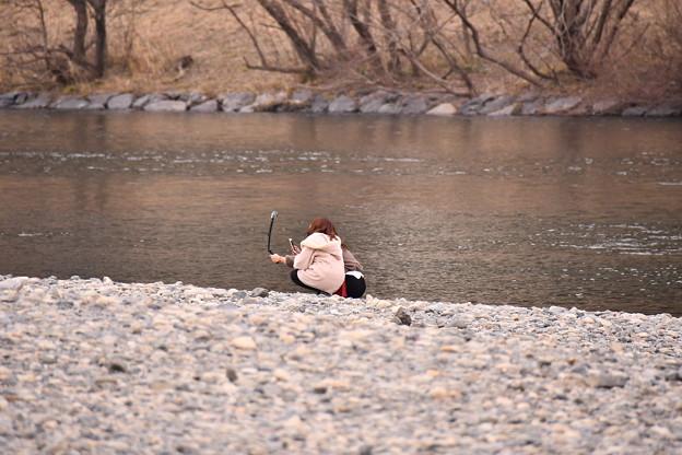 山口県岩国の錦帯橋河川敷の風景 20180219