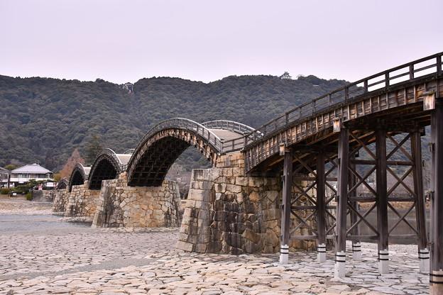 岩国の錦帯橋。。アーチ型の橋 綺麗造り 20180219