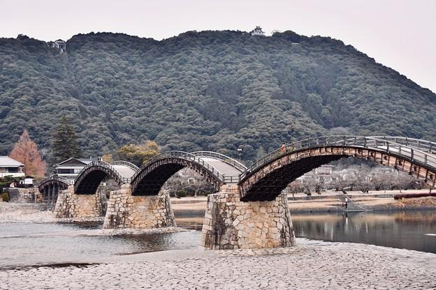 岩国の錦帯橋と岩国城が見れる風景。。20180219