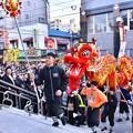 横浜中華街春節 祝舞遊行 關帝廟へお祝いする龍舞 20180224