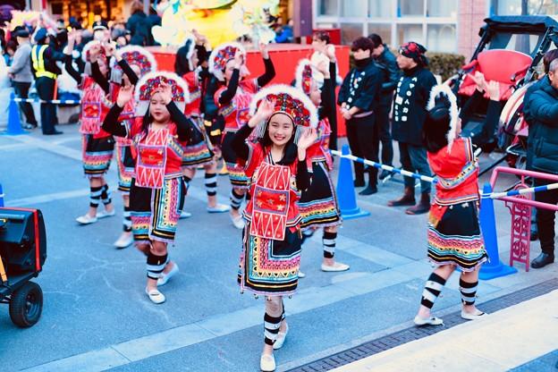 横浜中華街春節 祝舞遊行フィナーレ 最後まで舞踊り 20180224