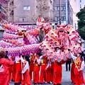 Photos: 横浜中華街春節 祝舞遊行フィナーレ 龍舞最後まで楽しませる 20180224