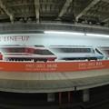 写真: 小田急新宿駅ホームにあるロマンスカーの歴史を魚眼で。。20180303