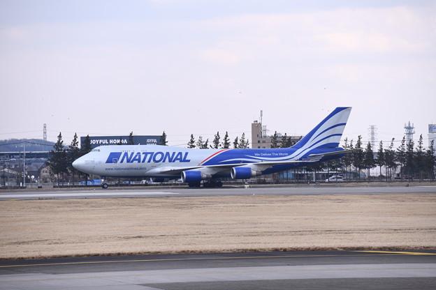 ある日の横田基地。。やっぱりジャンボ機迫力あるナショナルのB747(2) 20180311