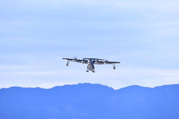 岩国遠征。。朝の岩国基地 海上自衛隊US-2上がり(1) 20180322