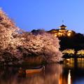 写真: 夜桜の横浜三渓園。。(1) 20180330